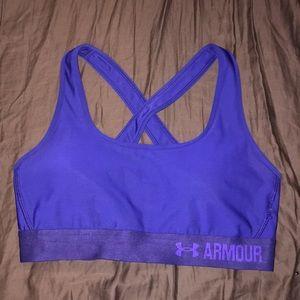 under armour cross back sports bra